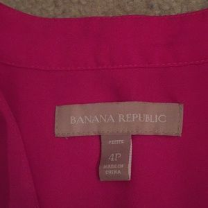 Banana Republic Tops - Hot Pink Banana Republic Button Down Sleeveless